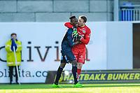 Fotball , Eliteserien , 30 April 2017 , Kristiansund - Strømsgodset , Sean Mcdermott , Daouda Bamba<br /> <br />  , Foto: Marius Simensen, Digitalsport