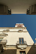 Low angle view of Tavira Tower, Cadiz, Andalusia, Spain