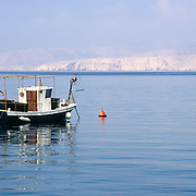 Boat on the Adriatic in Senj, Croatia