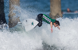 July 31, 2018 - Huntington Beach, California, United States - Huntington Beach, CA - Tuesday July 31, 2018: Cam Richards in action during a World Surf League (WSL) Qualifying Series (QS) Men's round of 96 heat at the 2018 Vans U.S. Open of Surfing on South side of the Huntington Beach pier. (Credit Image: © Michael Janosz/ISIPhotos via ZUMA Wire)