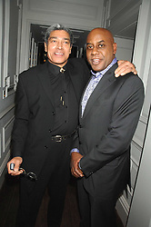 Left to right, ANTHONY JONES and AINSLEY HARRIOTT at a party to promote The Landau at The Langham, Portland Place, London W1 on 7th February 2008.<br /><br />NON EXCLUSIVE - WORLD RIGHTS