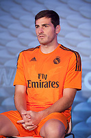 Real´s goalkeeper Iker Casillas during the presentation of the Real Madrid's new Champions League kit at the Santiago Bernabeu stadium in Madrid, Spain. May 26, 2013. (ALTERPHOTOS/Victor Blanco)