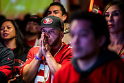 SAN FRANCISCO, CA - FEBRUARY 02: San Francisco 49ers fans watch the San Francisco 49ers play the Kansas City Chiefs during a Super Bowl LIV watch party at SPIN San Francisco on February 2, 2020 in San Francisco, California. The San Francisco 49ers faced the Kansas City Chiefs in Super Bowl LIV for their seventh appearance at the NFL championship, leading the game into half time and losing after 21 unanswered points in the second half of the game. (Photo by Philip Pacheco/Getty Images)