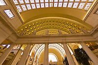 Ornate interior of Union Station (train station), Washington D.C., U.S.A.