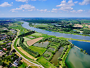 Nederland, Gelderland, Gemeente Neder-Betuwe.; 27-05-2020; Nederrijn bij Opheusden, Rijnbandijk (winterdijk). Na het hoogwater van 1995 is de dijk versterkt en verbeterd. Recreatiegebied Maneswaard.<br /> Lower Rhine near Opheusden, Rijnbandijk (winter dyke). After the high water in 1995, the dyke was strengthened and improved. Nature and recreation area Maneswaard.<br /> <br /> luchtfoto (toeslag op standard tarieven);<br /> aerial photo (additional fee required)<br /> copyright © 2020 foto/photo Siebe Swart