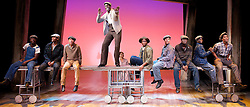 The Scottsboro Boys<br /> Music & Lyrics by John Kander & Fred Ebb <br /> Book by David Thompson <br /> at the Young Vic Theatre, London, Great Britain <br /> Press photocall<br /> 28th October 2013 <br /> <br /> <br /> <br /> Adebayo Bolaji as Clarence Norris<br /> <br /> Christian Dante White as Charles Weems<br /> <br /> Dawn Hope as The Lady <br /> <br /> Idriss Kargbo as Eugene Willaims<br /> <br /> Rohan Pinnock-Hamilton as Olen Montgomery <br /> <br /> Clinton Roane as Roy Wright <br /> <br /> Emile Ruddock as Willie Roberson <br /> <br /> Carl Spencer as Andy Wright <br /> <br /> Kyle Scatliffe as Haywood Patterson <br /> <br /> James T Lane Ozie Powell <br /> <br /> Forrest McClendon as Mr Tambo<br /> <br /> Colman Domingo as Mr Bones<br /> <br /> Julian Glover as Interlocutor<br /> <br /> <br /> Photograph by Elliott Franks