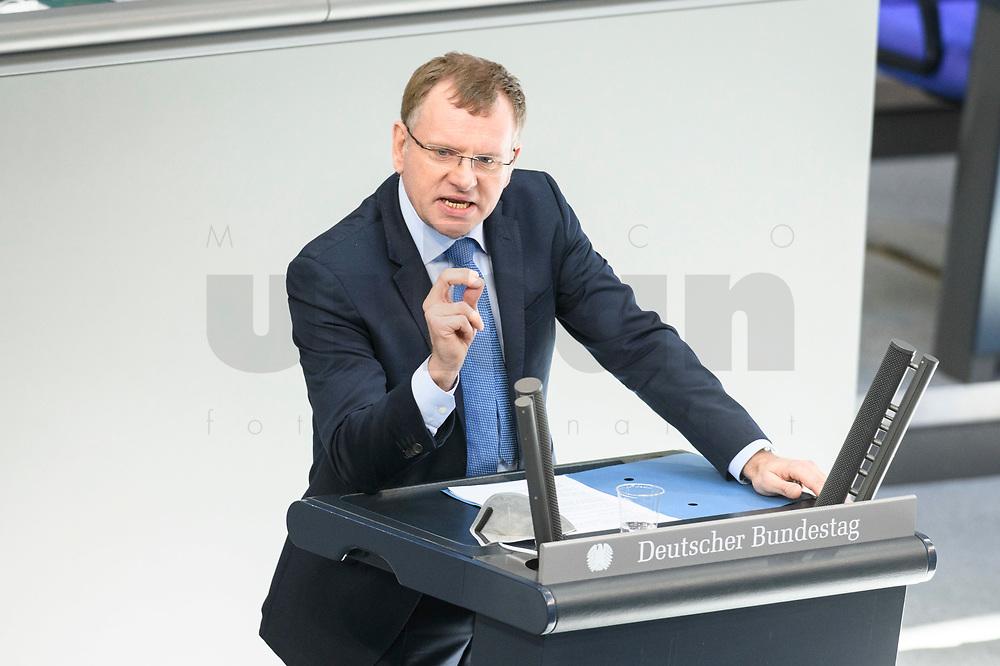 05 MAR 2021, BERLIN/GERMANY:<br /> Dirk Spaniel, MdB, AfD, haelt eine Rede, waehrend einer Bundestagsdebatte, Plenum, Reichstagsgebaeude, Deutscher Bundestag<br /> IMAGE: 20210305-01-0