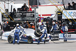 April 7, 2018 - Ft. Worth, Texas, United States of America - April 07, 2018 - Ft. Worth, Texas, USA: Jamie McMurray (42) makes a pit stop for the My Bariatric Solutions 300 at Texas Motor Speedway in Ft. Worth, Texas. (Credit Image: © Stephen A. Arce/ASP via ZUMA Wire)