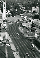 1972 Looking north on Highland Ave. towards Franklin Ave.
