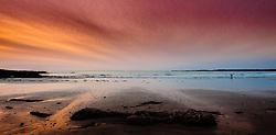 Sunset on the beach at Balivanich, Benbecula, Outer Hebrides, Scotland<br /> <br /> (c) Andrew Wilson | Edinburgh Elite media