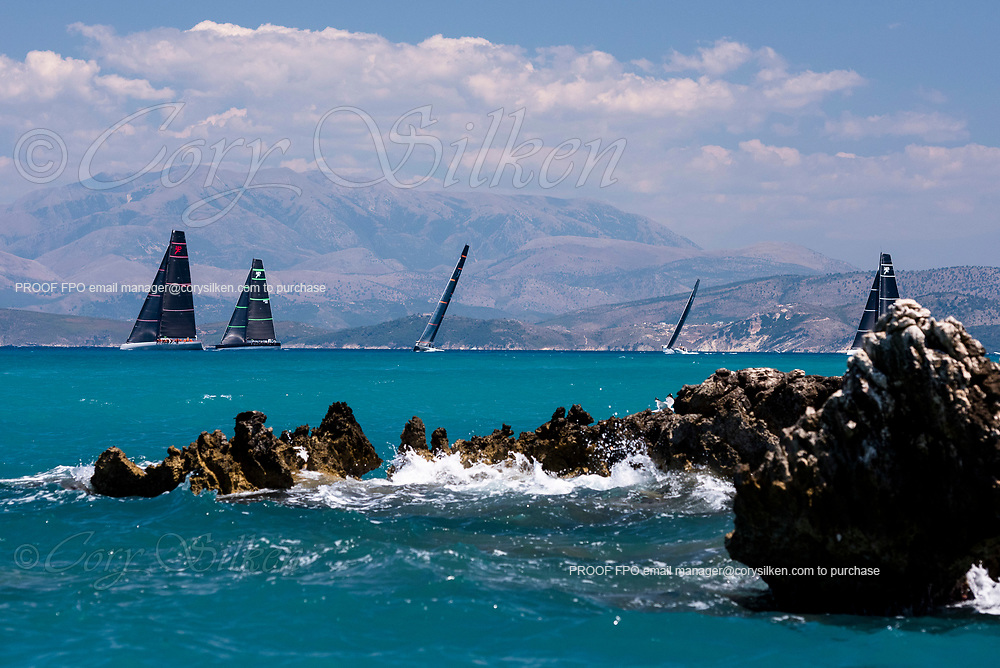 sailing in the  Corfu Challenge, day two.