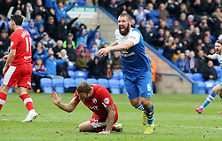 Peterborough United's Michael Bostwick celebrates scoring his goal - Photo mandatory by-line: Joe Dent/JMP - Mobile: 07966 386802 - 21/03/2015 - SPORT - Football - Peterborough - ABAX Stadium - Peterborough United v Chesterfield - Sky Bet League One