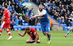 Peterborough United's Michael Bostwick celebrates scoring his goal - Photo mandatory by-line: Joe Dent/JMP - Mobile: 07966 386802 - 21/03/2015 - SPORT - Football - Peterborough - ABAX Stadium - Peterborough United v Chesterfield - Sky Bet League One
