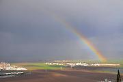 Rainbow over Haifa bay area,  Israel