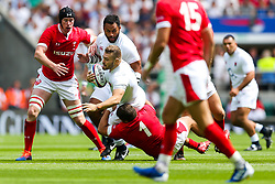 Luke Cowan-Dickie of England is tackled by Nicky Smith of Wales - Rogan/JMP - 11/08/2019 - RUGBY UNION - Twickenham Stadium - London, England - England v Wales - Quilter Series.