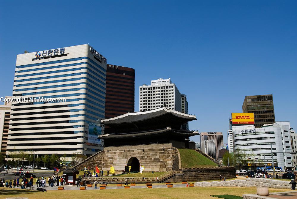 Namdaemun Gate in central Seoul in South Korea