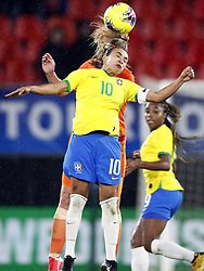 March 4, 2020, International Friendly: (l-r) Marta Vieira da Silva of Brazil Women, Stefanie van der Gragt of Holland Women during the women's international friendly Tournoi de France match between The Netherlands and Brazil at Stade du Hainaut  on March 04, 2020 in Valenciennes, France (Credit Image: © Women: The Netherlands V Brazi/Hollandse-Hoogte via ZUMA Press)