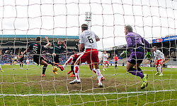 Raith Rovers scoring their first goal. <br /> Raith Rovers 2 v 2 Falkirk, Scottish Championship game played 23/4/2016 at Stark's Park.