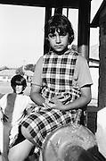 Ramona Cutitaru à 9 ans en 1995 dans la cour de l'orphelinat de Popricani. Ramona a été abandonnée à la naissance.<br /> <br /> Ramona Cutitaru at 9 at Popricani's orphanage in 1995. Ramona was abandoned at birth.