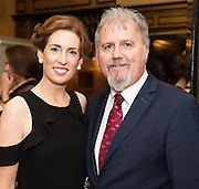 Hildegarde Naughton TD and Ronan Scully Gorta Self Help Africa  at the Gorta Self Help Africa Annual Ball in Hotel Meyrick Galway City. Photo: Andrew Downes, XPOSURE.