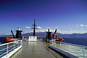 Ferryboat from Patras, Peloponnese to Sami, Cephalonia, Greece