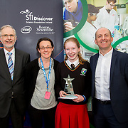 27.04.2016.          <br />  Kalin Foy and Ciara Coyle win SciFest@LIT<br /> Kalin Foy and Ciara Coyle from Colaiste Chiarain Croom to represent Limerick at Ireland's largest science competition.<br /> <br /> Gael Cholaiste Luimnigh student, Emily Ní Chaoimh's project, Graphology  An bhfuil do scríobhnóireacht ag léiriú níos mó eolas fút ná mar a cheap tú?, won the Newstalk Best communicator Award.  Emily Ní Chaoimh is pictured with George Porter, SciFest, Pacal Meehan, LIT and Brian Aherne, Intel.<br /> <br /> Of the over 110 projects exhibited at SciFest@LIT 2016, the top prize on the day went to Kalin Foy and Ciara Coyle from Colaiste Chiarain Croom for their project, 'To design and manufacture wireless trailer lights'. The runner-up prize went to a team from John the Baptist Community School, Hospital with their project on 'Educating the Youth of Ireland about Farm Safety'. Picture: Fusionshooters