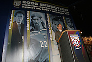 28 August 2006: Television commentator J.P. Dellacamera emceed the cermony. The National Soccer Hall of Fame Induction Ceremony was held at the National Soccer Hall of Fame in Oneonta, New York.