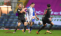 Blackburn Rovers's Stewart Downing battles for the ball<br /> <br /> Photographer Dave Howarth/CameraSport<br /> <br /> The EFL Sky Bet Championship - Blackburn Rovers v Watford - Wednesday 24th February 2021 - Ewood Park - Blackburn<br /> <br /> World Copyright © 2021 CameraSport. All rights reserved. 43 Linden Ave. Countesthorpe. Leicester. England. LE8 5PG - Tel: +44 (0) 116 277 4147 - admin@camerasport.com - www.camerasport.com
