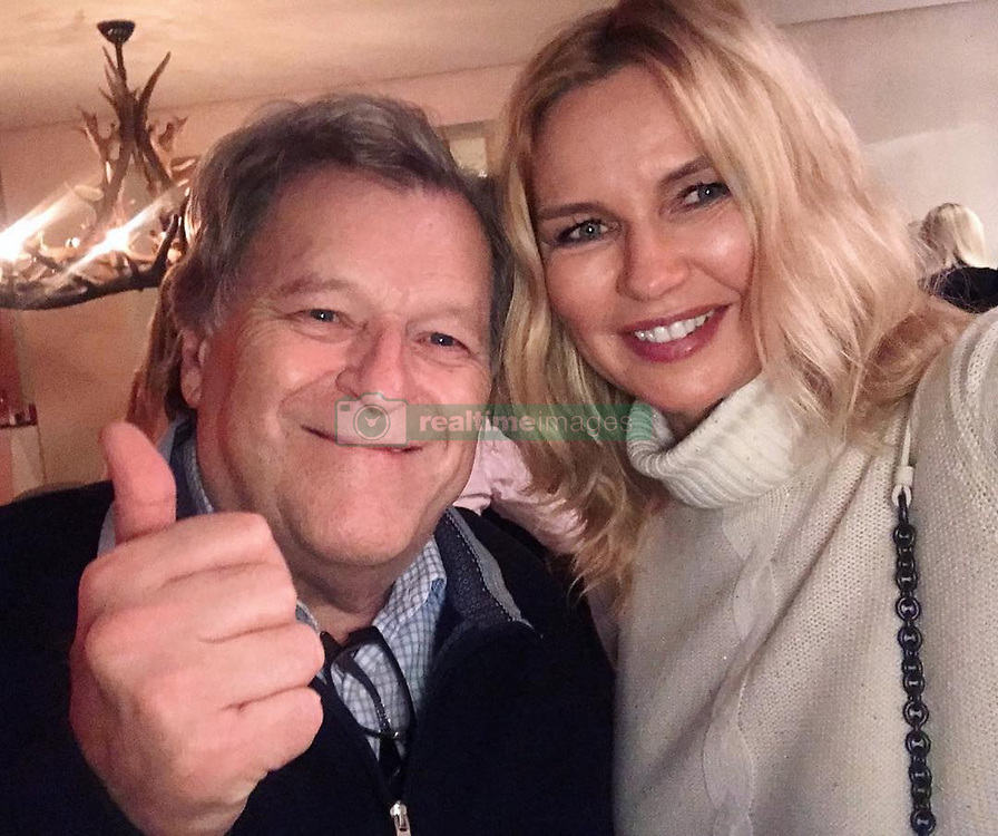 """Veronica Ferres releases a photo on Instagram with the following caption: """"Great evening with good friends \u263a\ufe0f mit Norbert Haug, dem ehemaligen Motorsport-Chef von Mercedes Benz \ud83c\udfce"""". Photo Credit: Instagram *** No USA Distribution *** For Editorial Use Only *** Not to be Published in Books or Photo Books ***  Please note: Fees charged by the agency are for the agency's services only, and do not, nor are they intended to, convey to the user any ownership of Copyright or License in the material. The agency does not claim any ownership including but not limited to Copyright or License in the attached material. By publishing this material you expressly agree to indemnify and to hold the agency and its directors, shareholders and employees harmless from any loss, claims, damages, demands, expenses (including legal fees), or any causes of action or allegation against the agency arising out of or connected in any way with publication of the material."""