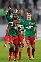 FOOTBALL - FRENCH CHAMPIONSHIP 2010/2011 - L2 - CS SEDAN v STADE LAVALLOIS - 22/04/2011 - PHOTO GUILLAUME RAMON / DPPI - JOY OF SEDAN AFTER THE MATCH