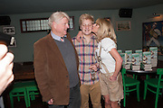 STANLEY JOHNSON; RACHEL JOHNSON; OLIVER, Party to celebrate the publication of 'Winter Games' by Rachel Johnson. the Draft House, Tower Bridge. London. 1 November 2012.