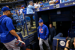 September 19, 2017 - St. Petersburg, Florida, U.S. - WILL VRAGOVIC   |   Times.Chicago Cubs manager Joe Maddon (70) steps onto the field before the start of the game between the Chicago Cubs and the Tampa Bay Rays at Tropicana Field in St. Petersburg, Fla. on Tuesday, Sept. 19, 2017. (Credit Image: © Will Vragovic/Tampa Bay Times via ZUMA Wire)