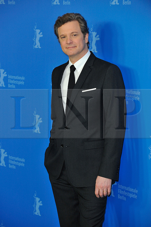 © licensed to London News Pictures. 16/02/2011. Colin Firth poses for photographs at the 61st Berlin Film Festival ahead of the Oscars in 10 days time where the movie hopes to win many awards including best actor for Firth and Best Movie. .Photo credit should read Theodore Wood/LNP