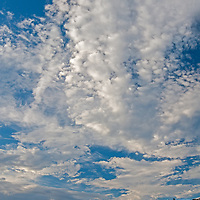 Clouds soar above hills in the California Coastal Mountains on Hunter-Ligget Military Reservation.