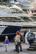 Power boats and yachts - The London Boat Show opens at the Excel centre. London 06 Jan 2017