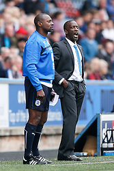 New Manager Chris Powell, in his first game in charge of Huddersfield, shouts - Photo mandatory by-line: Rogan Thomson/JMP - 07966 386802 - 13/09/2014 - SPORT - FOOTBALL - Huddersfield, England - The John Smith's Stadium - Huddersfield town v Middlesbrough - Sky Bet Championship.