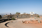 Israel, The Golan Heights, Abandoned military outpost on Mount Bental Now a war memorial site