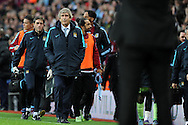 Manuel Pellegrini, the Manchester city manager walks off at the end of the match. Barclays Premier league match, Aston Villa v Manchester city at Villa Park in Birmingham, Midlands  on Sunday 8th November 2015.<br /> pic by  Andrew Orchard, Andrew Orchard sports photography.