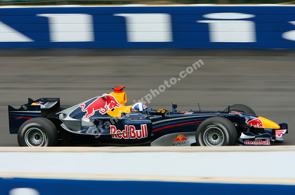David Coulthard (Red Bull-Ferrari) during practice for the 2006 United States Grand Prix in Indianapolis. Photo: Grand Prix Photo