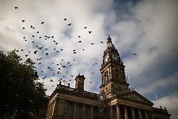 © Licensed to London News Pictures . 16/09/2020. Bolton , UK . GV Bolton Town Hall , Victoria Square . The number of recorded cases of Coronavirus has gone over 200 in a single day , in Bolton . Photo credit : Joel Goodman/LNP
