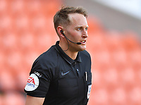 Referee James Bell<br /> <br /> Photographer Dave Howarth/CameraSport<br /> <br /> The EFL Sky Bet League One - Blackpool v Shrewsbury Town - Saturday 24th April 2021 - Bloomfield Road - Blackpool<br /> <br /> World Copyright © 2021 CameraSport. All rights reserved. 43 Linden Ave. Countesthorpe. Leicester. England. LE8 5PG - Tel: +44 (0) 116 277 4147 - admin@camerasport.com - www.camerasport.com
