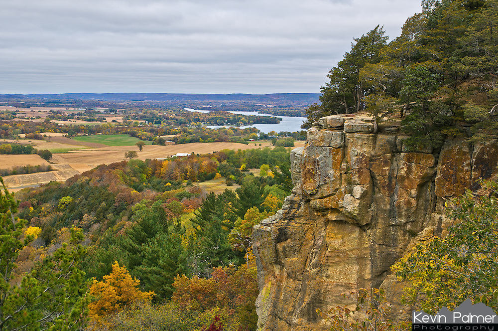 Wisconsin has it's very own version of Gibraltar Rock. This cliff is near the town of Lodi and provides scenic views of the farmland 450 feet below. You can also see Lake Wisconsin, which has the only free ferry in Wisconsin.