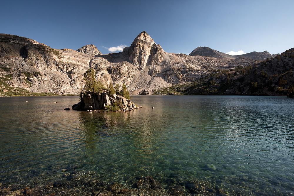 Rae Lakes along the John Muir Trail in California