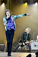 The Rolling Stones Mick Jagger  live  at Twickenham Stadium, London, England, UK on Tuesday 19 June2018n part of their 'No Filter' World Tour. photo by David Court