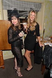 Left to right, SOPHIE GOODWIN and LUCIA RAMADAN at the Bumpkin Halloween Dinner hosted by Marissa Hermer held at Bumpkin, 119 Sydney Street, London on 23rd October 2014.