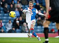 Football - Premiership - Blackburn Rovers vs. Fulham - Blackburn Rovers Morten Gamst Pederson scores the first goal at Ewood Park.