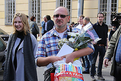 August 7, 2017 - Saint-Petersburg, Russia - Maksim Reznik has been released on the 7th of July 2017 in Saint-Petersburg, Russia after a 10-day detention in the connection of his participation in the opposition rally on March 26, 2017 (Credit Image: © Russian Look via ZUMA Wire)