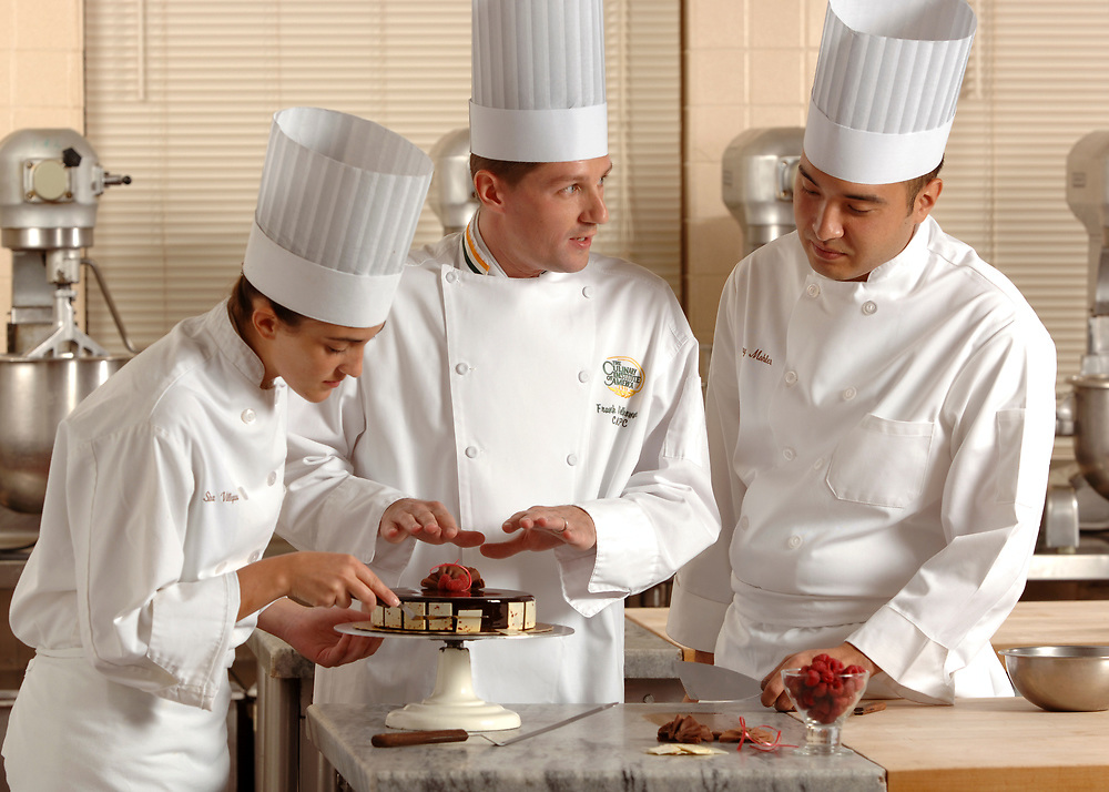 Culinary Institute of America Baking and Pastry Teacher and Students