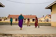 Elders walk through the amphitheatre after morning worship at the Tamaraikulum Elders village, Tamil Nadu, India
