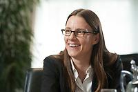 08 JUL 2015, BERLIN/GERMANY:<br /> Katrin Suder, Staatssekretaerin im Bundesministerium der Verteidigung, waehrend einem Interview, in Ihrem Buero, Bundesministerium der Verteidigung<br /> IMAGE: 20150708-01-025<br /> KEYWORDS: BMVg